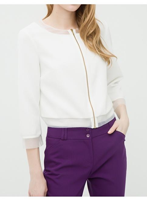 Koton Kısa Ceket Beyaz